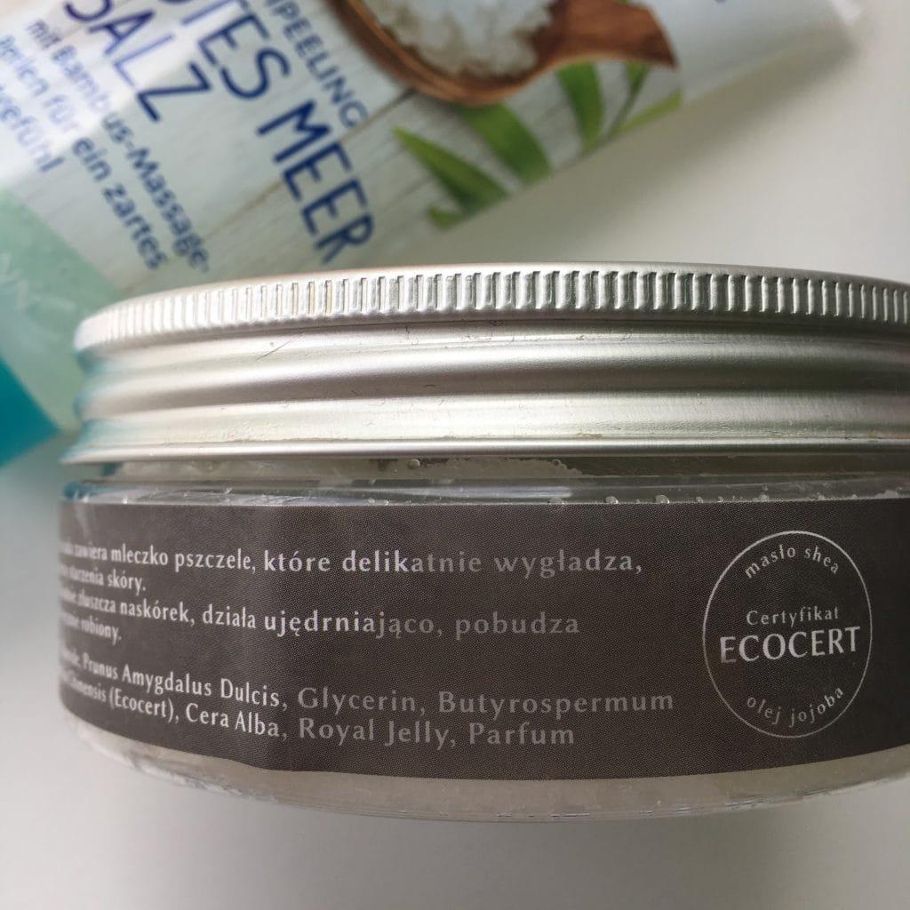 3 produkty, to seria mini recenzji, dziś peeling do ciała z Honey Therapy, Isana oraz Rituals.