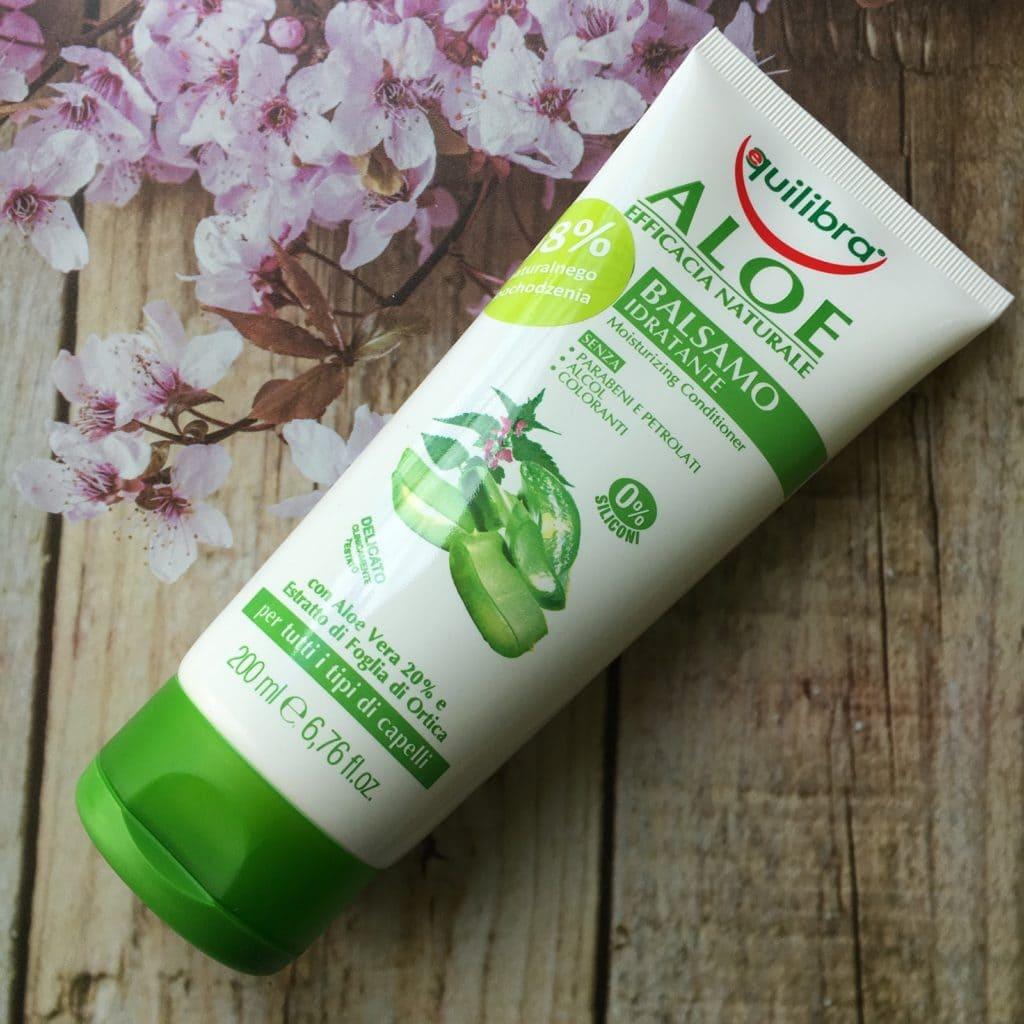 Equilibra aloesowe nawilżenie, szampon i odżywka do włosów.