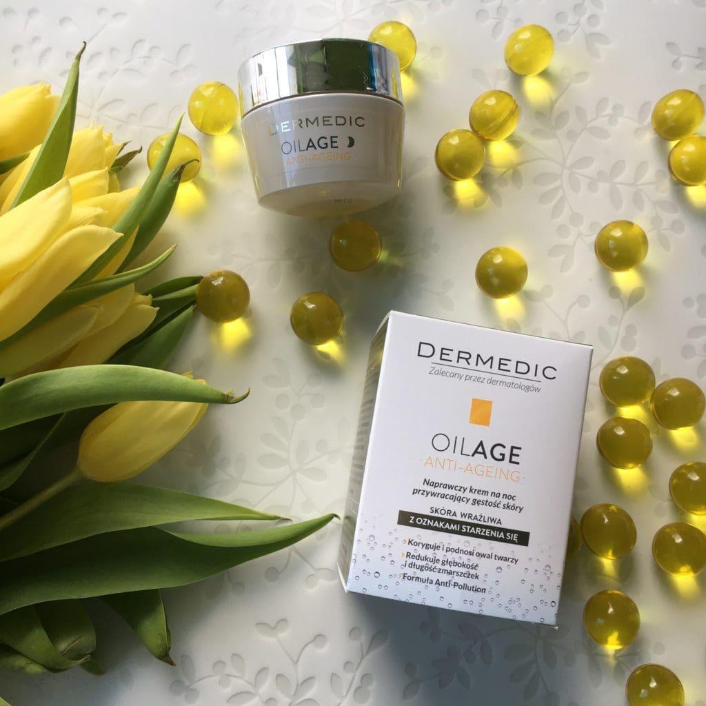 Moje kolejne spotkanie z serią Oilage od Dermedic, tym razem Naprawczy krem na noc przywracający gęstość skóry.