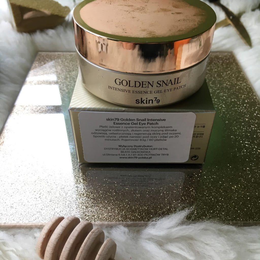 Skin79 i ich Płatki pod oczy, czyli Golden Snail Intensive Essence Gel Eye Patch.