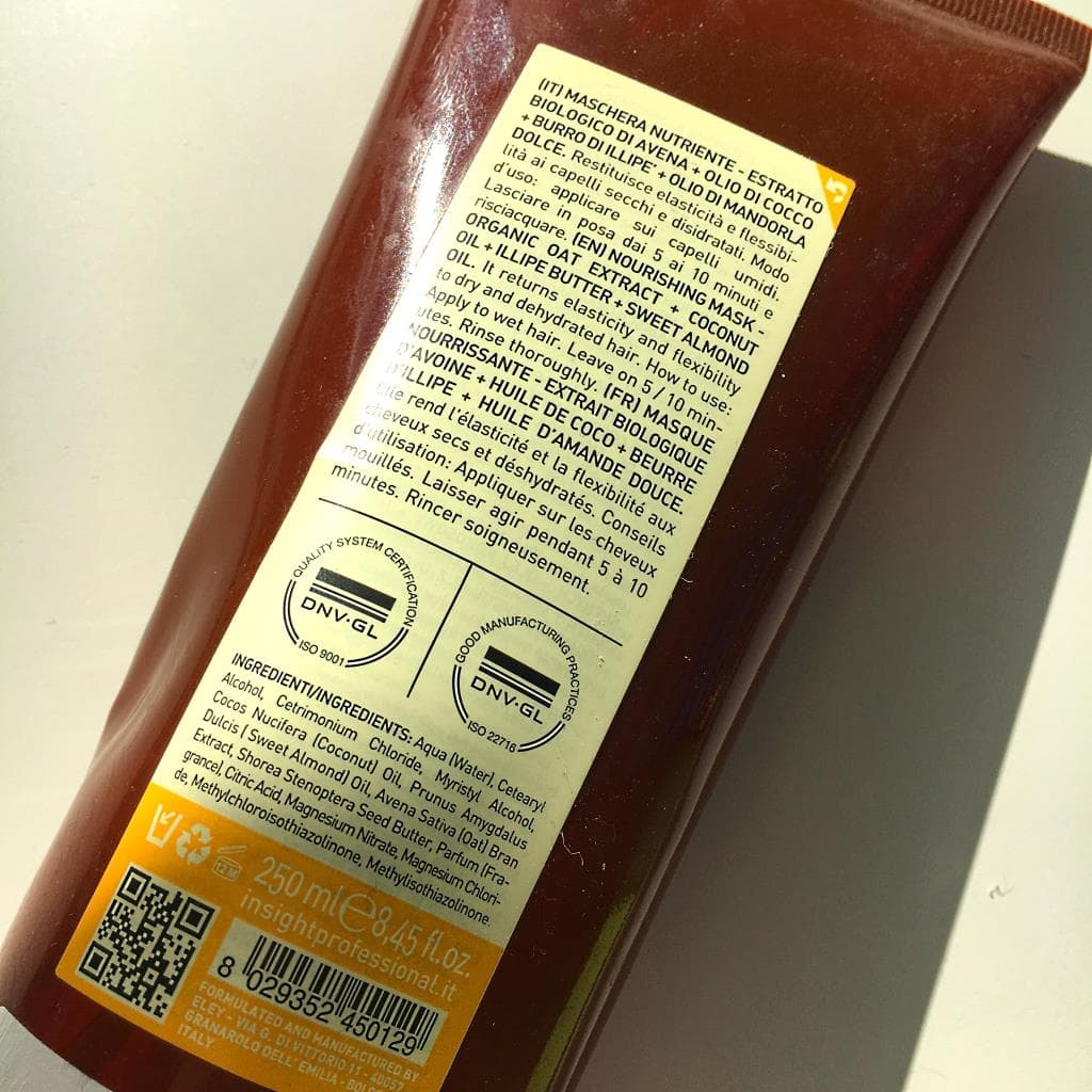 Insight - Dry Hair - Nourishing Mask - Maska odżywiająca - skład.