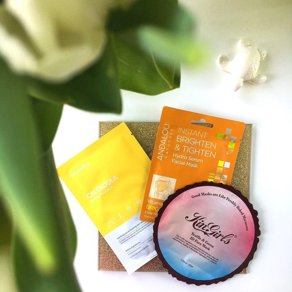 3 produkty, dziś to maska w płacie z Andalou Naturals, Aromatica oraz Kin Girls.