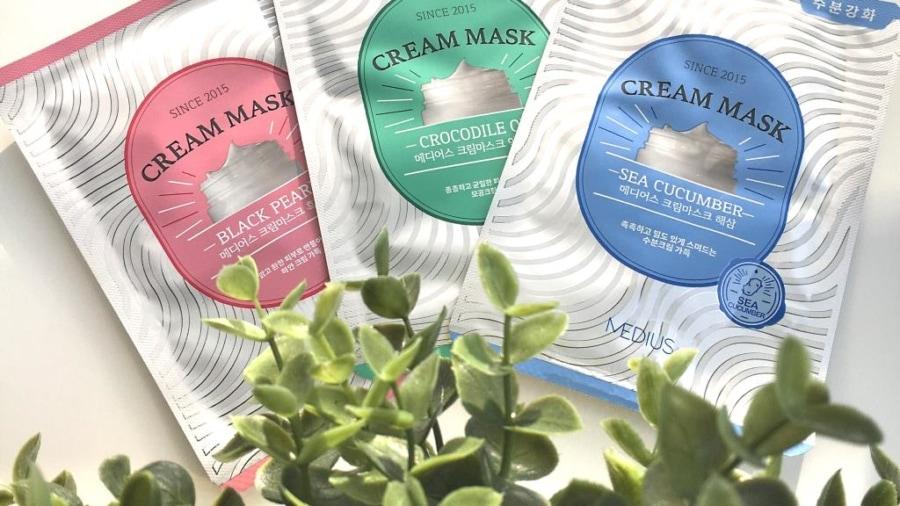 Kremowe maski w płacie z Medius.