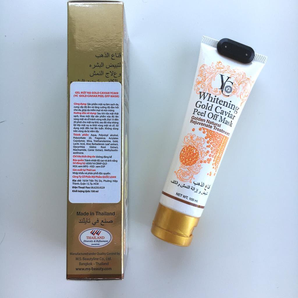 Whitening Gold Caviar Peel Off Mask z M.S. Beauty.