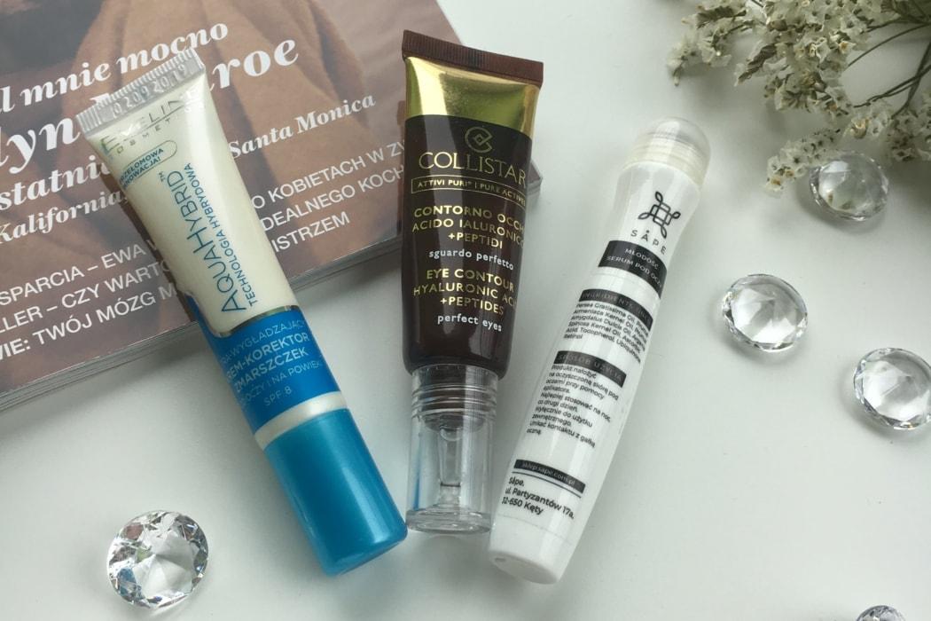 3 produkty - krem pod oczy - Collistar, Eveline oraz Sape
