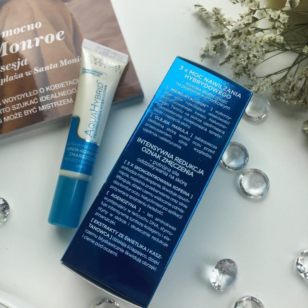 Eveline Cosmetics - Aqua Hybrid - Ultra-wygładzający krem-korektor zmarszczek pod oczy i na powieki