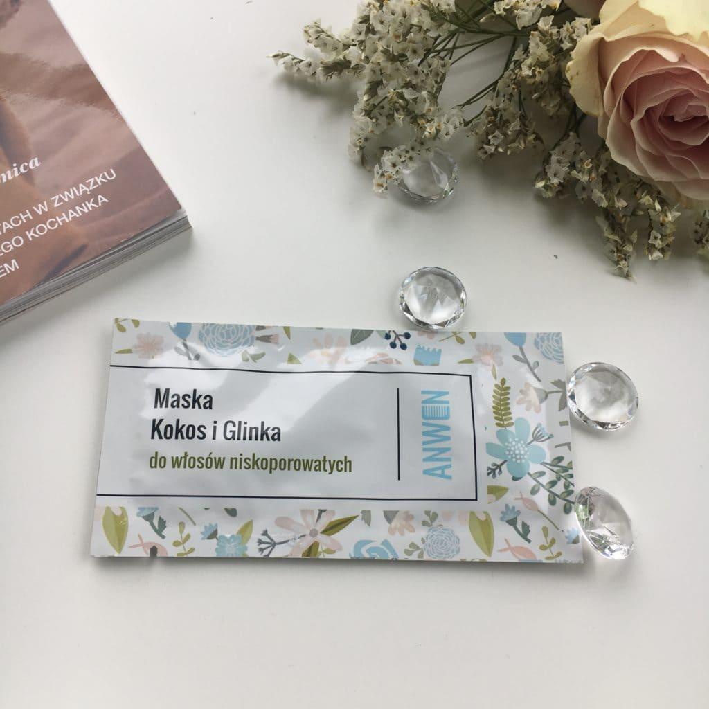 Anwen - Maska do włosów niskoporowatych - Kokos i Glinka