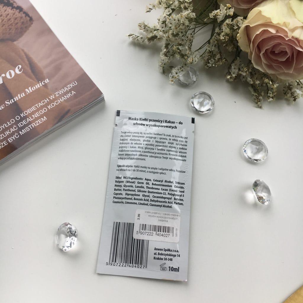 Anwen - Maska do włosów wysokoporowatych - Kiełki pszenicy i Kakao