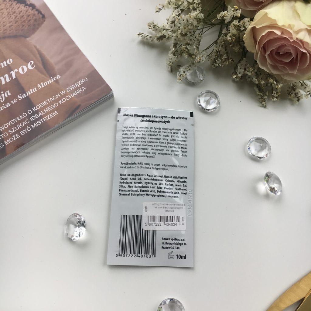 Anwen - Maska do włosów średnioporowatych - Winogrona i Keratyna