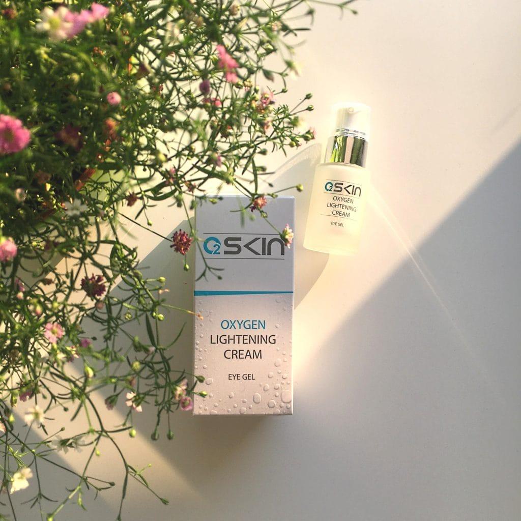 Oxygen Lightening Cream, Eye Gel z O2Skin.