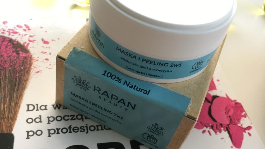 Rapan Beauty – 100% Natural – Maseczka i peeling 2w1 - Niebieska glinka syberyjska