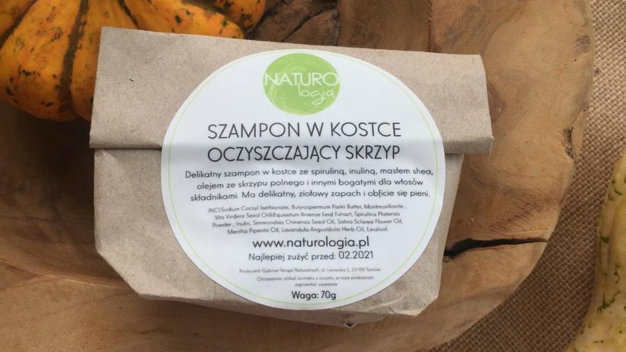 Naturologia - Szampon w kostce - Oczyszczający Skrzyp