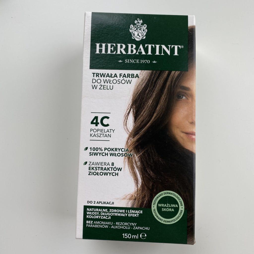 Herbatint - Trwała farba do włosów w żelu - 4C - Popielaty kasztan