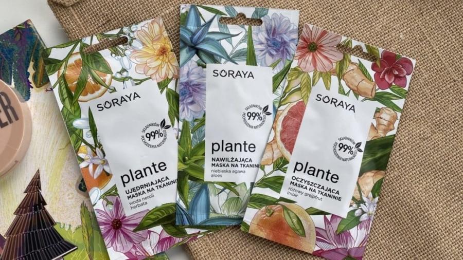 Soraya - Plante - 3 maski na tkaninie