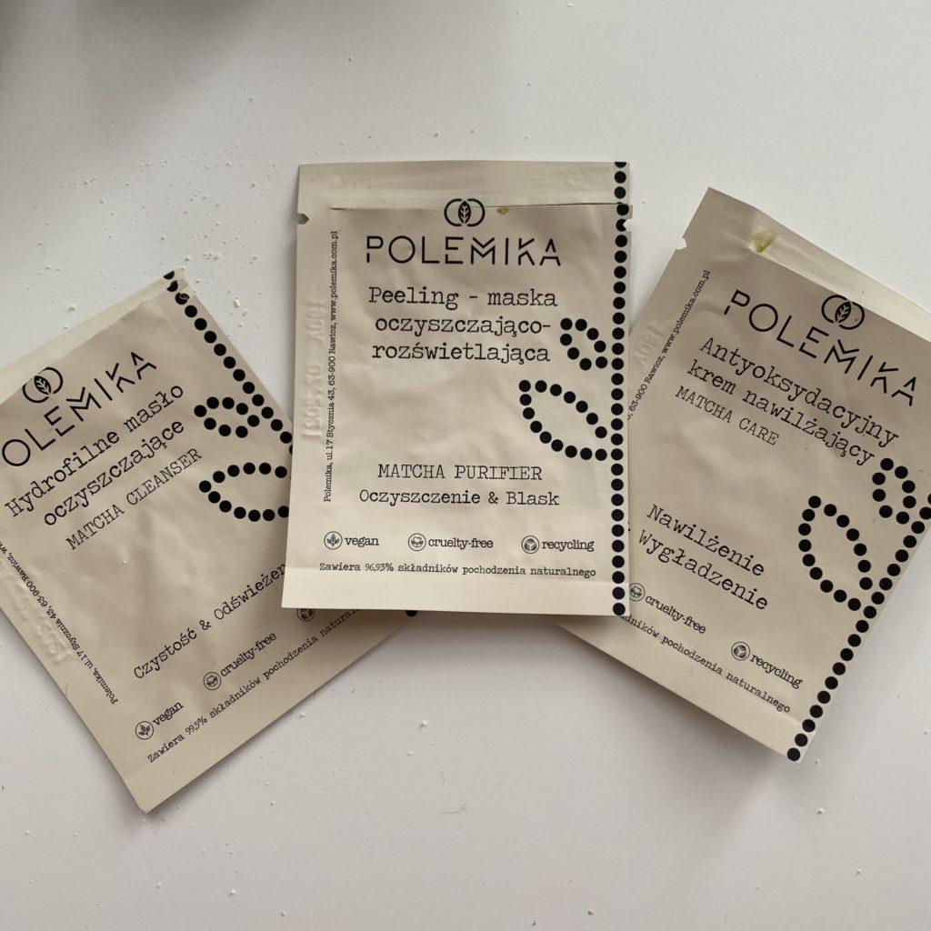 Polemika - Hydrofilne masło oczyszczające i Peeling-maska oczyszczająco rozświetlająca i Antyoksydacyjny krem nawilżający